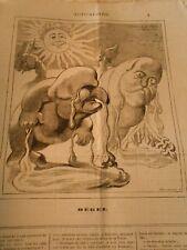 Caricature 1880 - Le Dégel