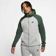 Nike Tech Fleece Fullzip Hoody- Size L - DarkGrey/GalacticJade - 928483 065
