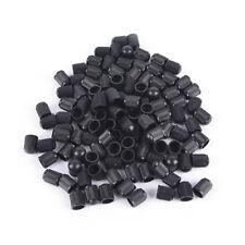 100pcs/lot Black Plastic Dust valve caps bike car wheel tyre air valve stem-caps
