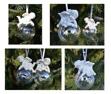 10 x  Set Engel auf Glaskugel , Baumschmuck,Weihnachtskugeln, Baumhänger,Deko