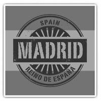 2 x Square Stickers 10 cm - Madrid Spain Reino De Espana Travel  #40499