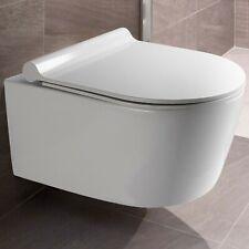 Vilstein Wand Hänge WC Spülrandlos Toilette Rimless inkl. WC Sitz mit Softclose