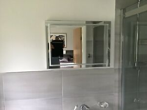 HIB Spectre 50 illuminated bathroom mirror with demister and warm &cool lighting
