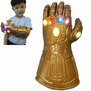 Kid Thanos Infinity Gauntlet Glove LED Light Glove Fancy Dress Toy