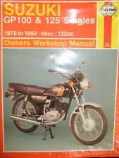 HAYNES MANUAL SUZUKI GP100 & 125 SINGLES 1978 to 1992