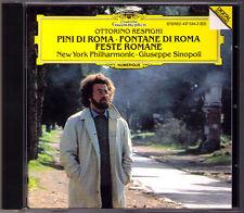 Giuseppe Sinopoli Respighi FONTANE Pini di Roma Feste romanzi CD New York DG 1993