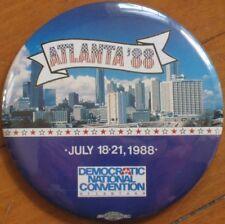 1988 Atlanta 'Democratic National Convention' Lg Button