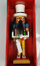 "Kurt Adler Santa's World Nutcracker old peddler 7"" in box never displayed"