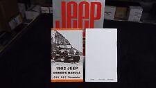 1982 Jeep CJ owner's manual