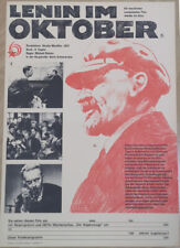 SOVIET - LENIN IN OCTOBER * RARE EAST GERMAN  POSTER!