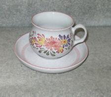 DENBY SUMMERFIELDS TEA CUP & SAUCER