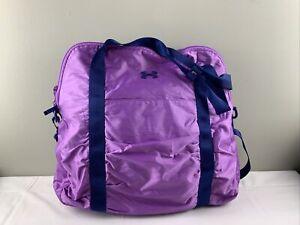 Women's Under Armour Gym/Laptop bag crossbody/shoulder purple EUC