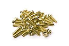 80x Gold Split Rim Bolts M7 x 24mm BBS LM Wheels High Tensile Steel Screws