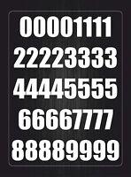 Set 26x aufkleber sticker buchstabe alphabet mulleimer tur weiß