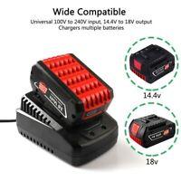 For Bosch 14.4V 18V Lithium-ion Battery Fast Power Supply Charger BAT609 BAT618