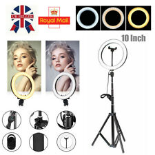 LED Ring Light Dimmable Studio Photo Video Lamp Tripod Stand Selfie Camera Phone