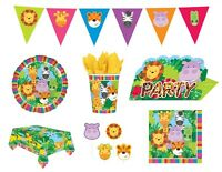JUNGLE FRIENDS Birthday Party - Safari Animals Tableware Decorations Supplies