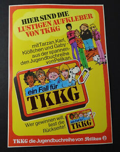 Promotional Stickers Ein Fall For Tkkg Pelikan Jugendbuch Sweepstakes Sheet 1982