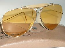 CIRCA 1970's VINTAGE BAUSCH & LOMB RAY-BAN AMBERMATIC SHOOTING SUNGLASSES