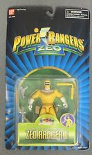"SABAN'S POWER RANGERS ZEO 5"" YELLOW RANGER II WITH DOUBLE CLUB ACTION - SEALED"