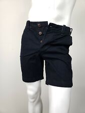 ABERCROMBIE & FITCH Classic Fit Shorts Black Cotton Button Fly At Knee 30 NWT