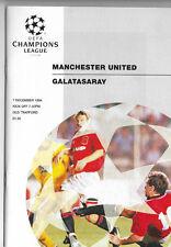 1994/95 UEFA Champions League - MANCHESTER UNITED v. GALATASARAY