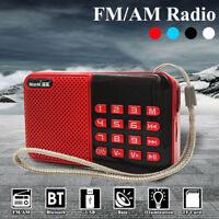 Mini Portable LCD Digital FM Radio Speaker Audio USB Micro SD TF Card Mp3 Player