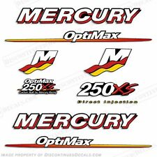 Mercury 250xs Optimax Racing Outboard Engine Decals 2007 2008 2009 250hp