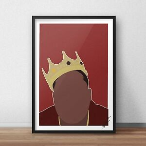 The Notorious B.I.G. INSPIRED WALL ART Print / Poster A4 A3 biggie smalls