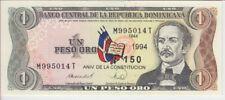 DOMINICAN REPUBLIC BANKNOTE P146A 1 PESO 1994 COMMEMORATIVE, SCARCE, UNC