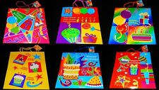 6pc Set * Happy Birthday * Gift Bags - Festive / Colorful / w/Handles / Party