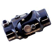 "Universal Black Steel Steering Shaft U-Joint 1"" DD x 3/4"" DD street rod"