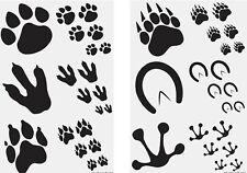 144 x ANIMAL FOOTPRINT Temporary Tattoos