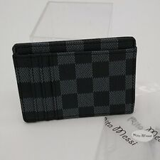 Women's Vegan Leather Checkered I.D. Wallet