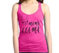 Mama Llama Racerback Tank Top Funny Mother's Day Gift Best Mom New Mom Life Cute