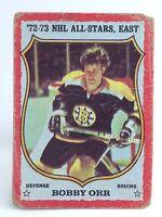 1973-74 Bobby Orr #30 Boston Bruins Defense OPC O-Pee-Chee Ice Hockey Card H410