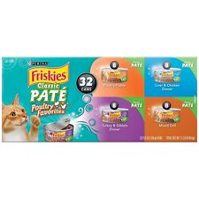 Purina Friskies Classic Pate Poultry Favorites Adult  Cat Food Variety 32 Pack