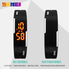 Modern SKMEI 1099 Watches LED Digital Black Silicone WristWatch Womens Gift
