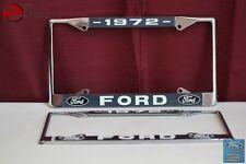 1972 Ford Car Pick Up Truck Front Rear License Plate Holder Chrome Frames New