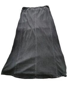 POETRY 55% HEMP 45% COTTON Jersey Blue-Grey Stretch maxi skirt16