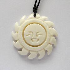 Tibet Style Bone Sun Happy Face Pendant Jewelry