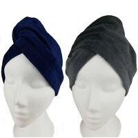 100% Cotton Hair Turban Towel Drying Turbie Loop & Button Bath twist Hair Wrap
