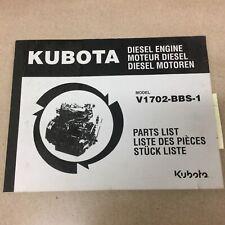 Kubota V1702 Bbs 1 Diesel Engine Parts Manual Book Catalog List Guide 9789800770