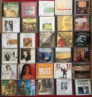Job-lot 30 CDs Classic Collection Bach-Telemann-Chopin-V.Mae-Handel-Albinoni Cds