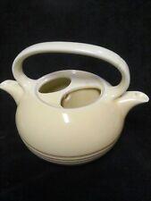 VINTAGE IVORY TEAMASTER DBL SPOUT TEA POT Hall Pottery? NO TOP