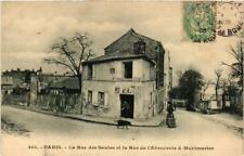 CPA PARIS (18e) La Rue des Saules Rue de l'Abreuvoir (563594)