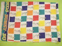 Vintage Bugs Bunny Twin Flat Sheet 95x63 Checkered Warner Bros Retro USA MADE