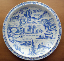 Vernon Kilns Oregon collector state plate~Ultra shape, blue glaze-No Reserve