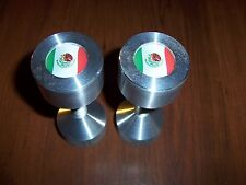 "Two hole pins Standard size. Mexico Flag!  1/2"" to 1-5/8"" Knurled"
