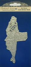 Tattered Lace Dies ART DECO COLD WINTER WALK Vintage Lady Cutting Die - TLD0492